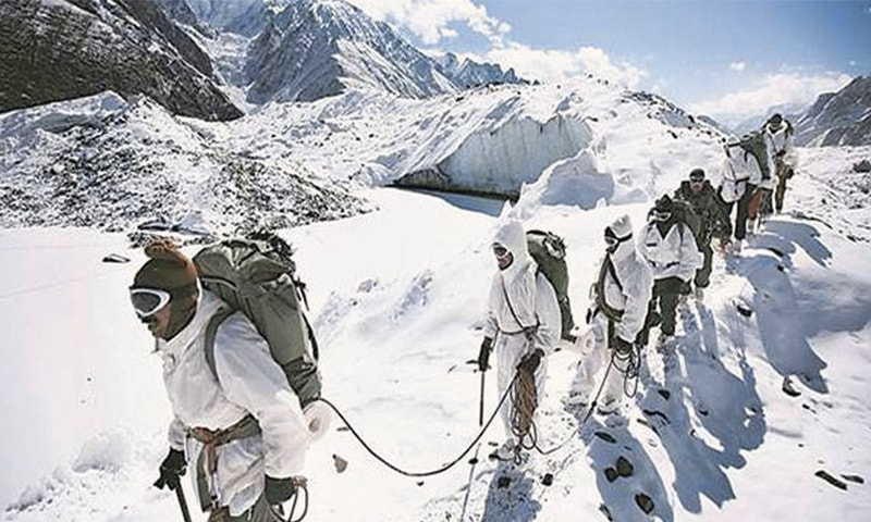 The heat generated from military activities in the Siachen region has resulted in a rise in temperatures