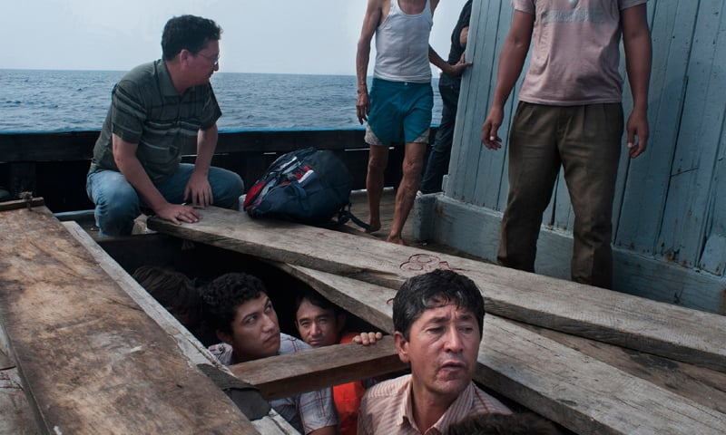 This award-winning photo was snapped in 2014 by Hazara photojournalist Barat Ali Batoor while he was making the boat journey to Australia. While Batoor survived, many others travel in absolute peril as they search for a new lease on life. Not all make it to safety, however| All rights reserved by Barat Ali Batoor