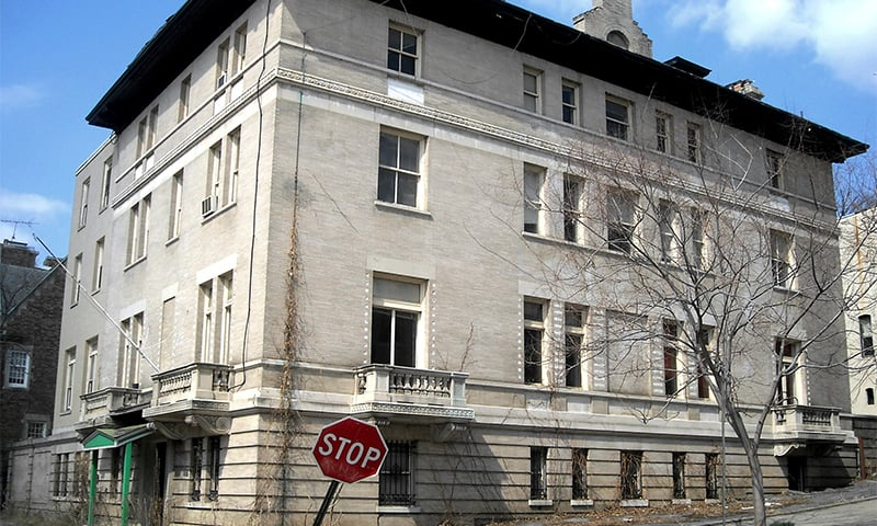 Abandoned Pakistani consulate building in Washington faces