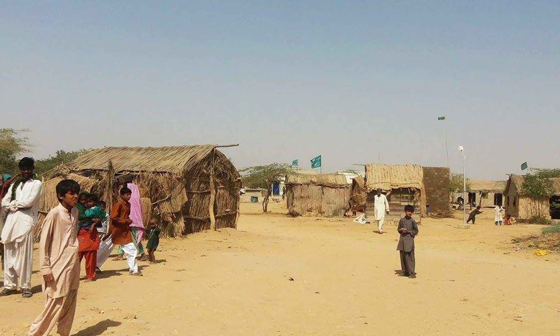 ضلع گھارو کا گاؤں بچو کولہی—تصویر شبینہ فراز