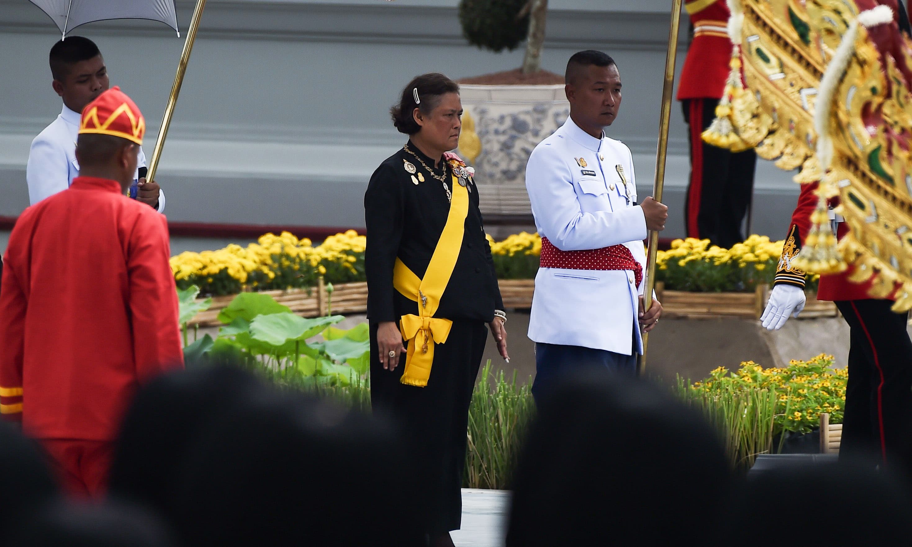 Thailand's Princess Maha Chakri Sirindhorn attends the funeral procession of the late Thai king. —AFP