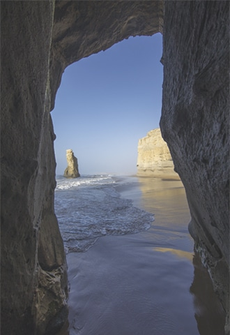 There are several unexplored caves on the beach