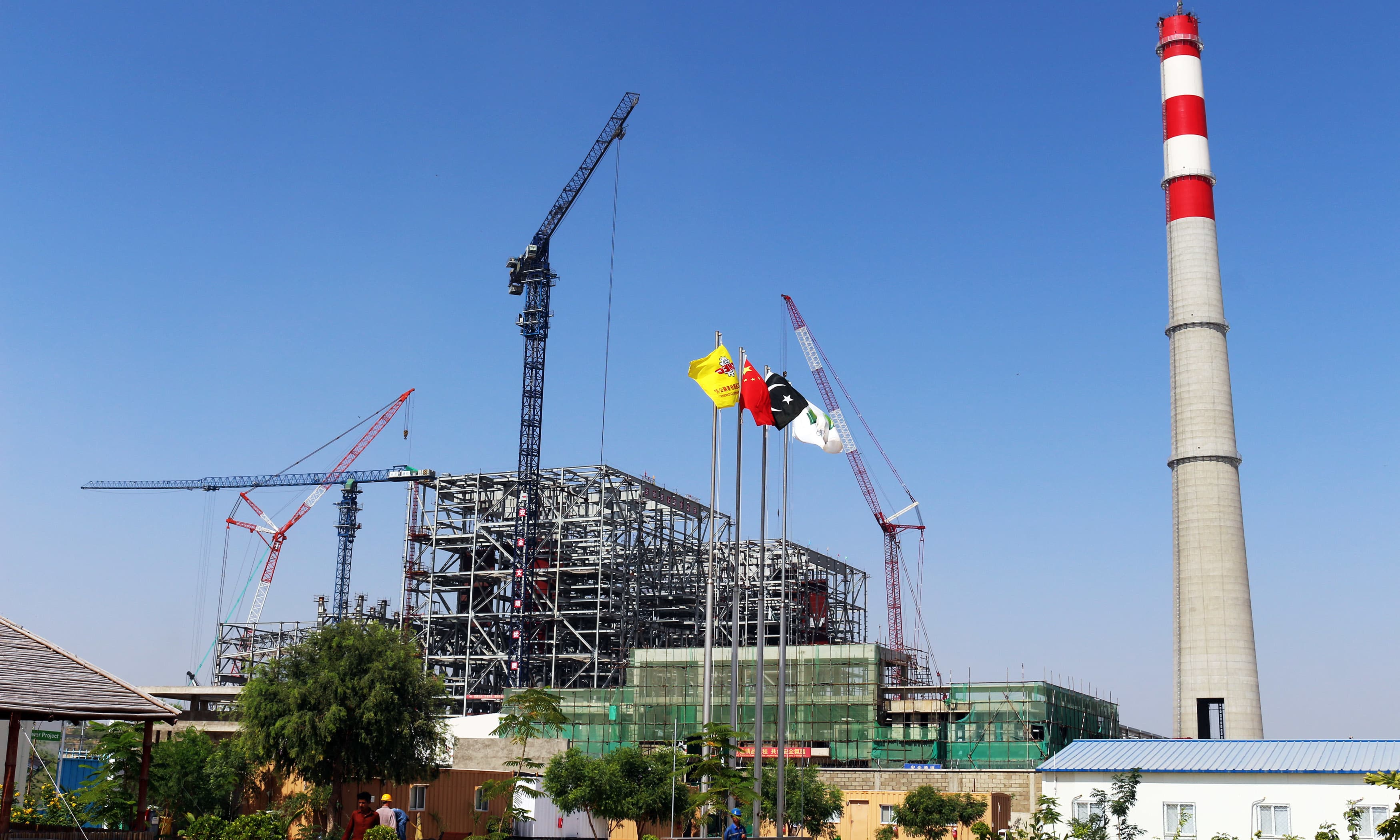 Work on power plant having a capacity of 1,320 megawatts underway in full swing.