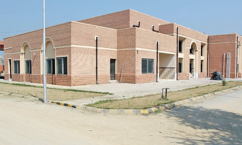The building of Women and Children Hospital in Charsadda. — Dawn photo