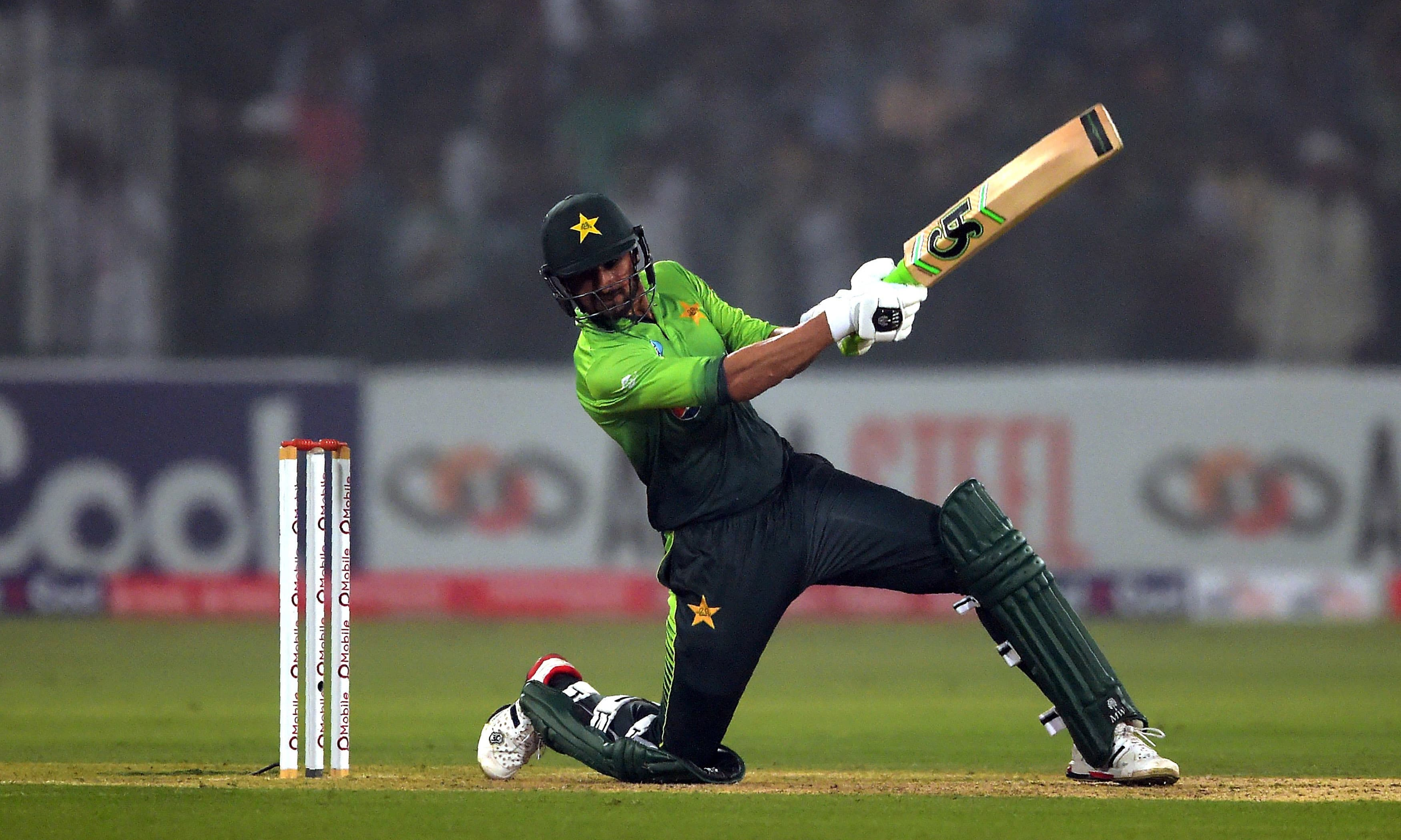 """I am very delighted that I played a fine knock and inspired the team to a decent total in our last T20 of the series against Sri Lanka,"" said Shoaib Malik who was declared man of the match. —AFP"