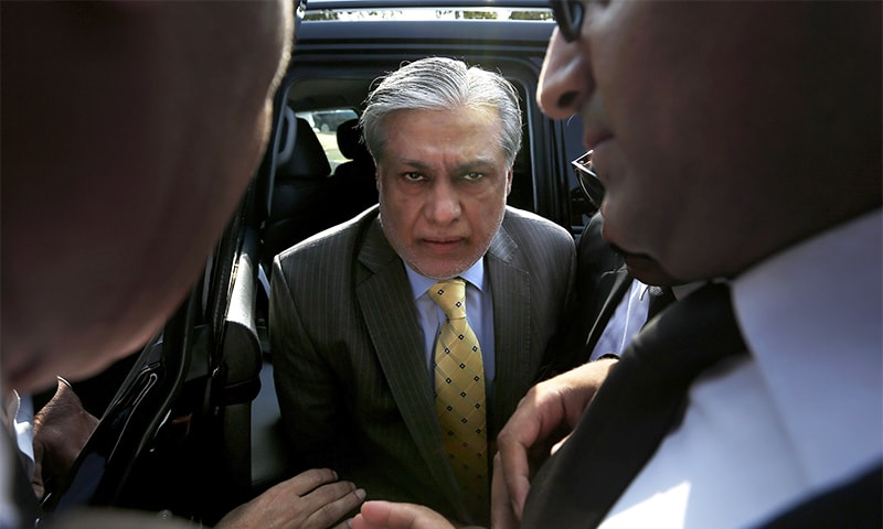 Ishaq Dar in London due to 'ill health', court issues bailable warrants for his arrest