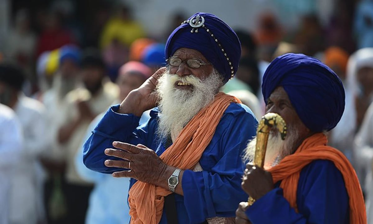 Sikh devotees attend final prayers at the Gurdwara Panja Sahib during the annual Baisakhi festival in Hasanabdal, Pakistan | AFP