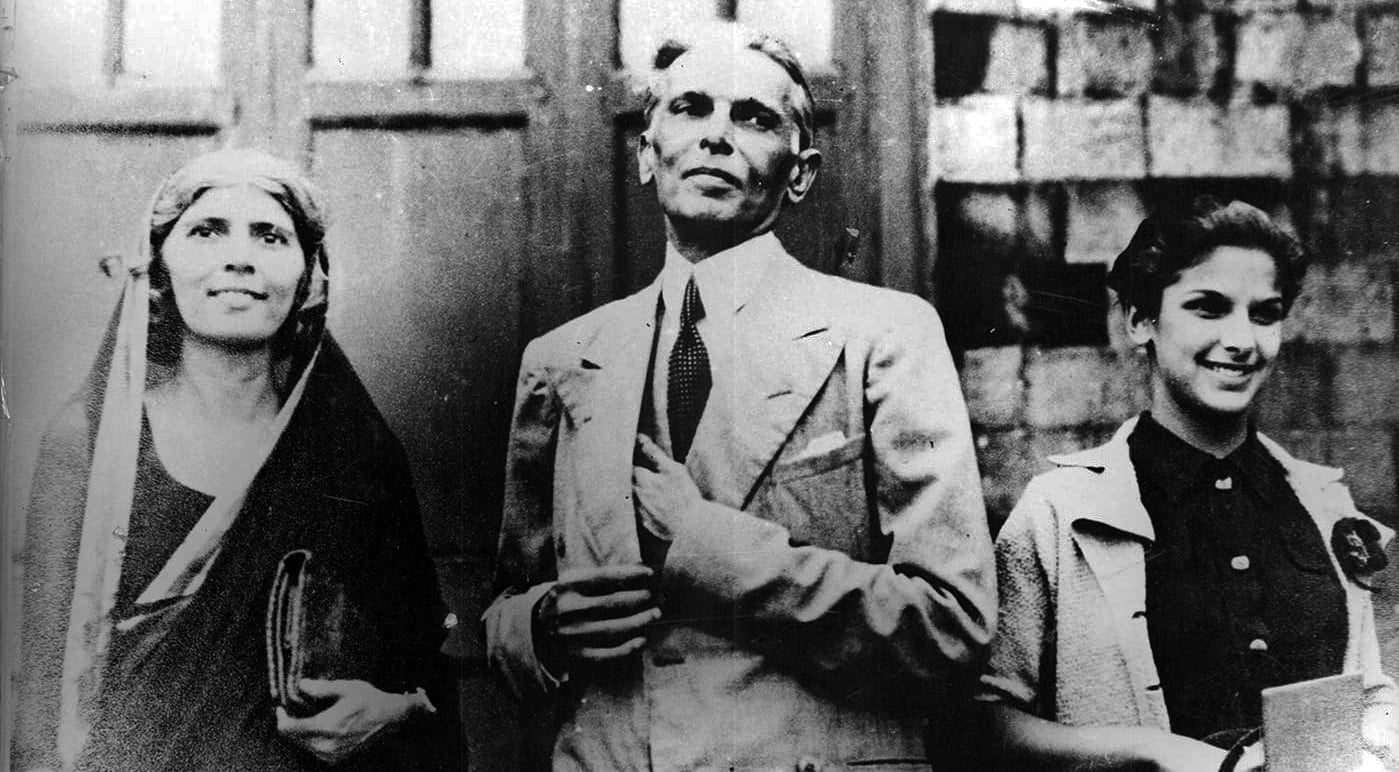Mr Jinnah with his sister Fatima and his daughter Dina. —​ Courtesy National Archives Islamabad