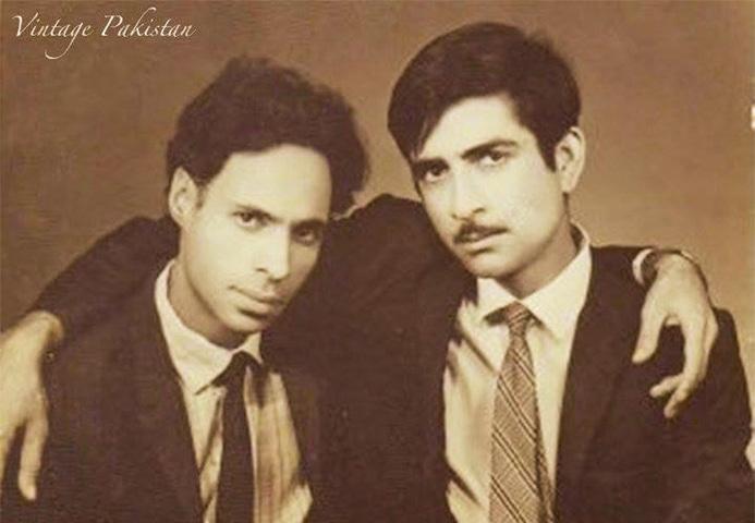 Old friends: Jaun Elia and Obaidullah Aleem | Vintage Pakistan