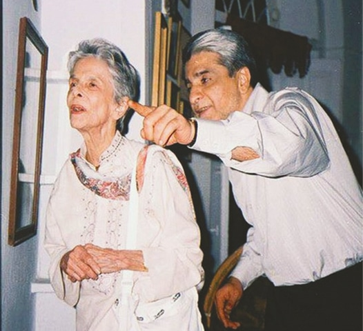 Dina Wadia pictured during a visit to Lahore in 2004.—Courtesy Yousaf Salahuddin
