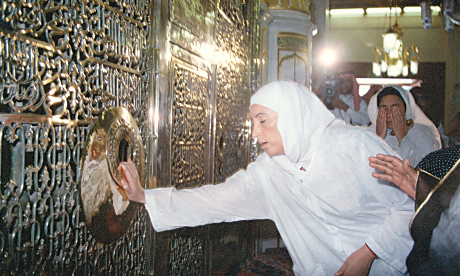LIKE most of her predecessors, one of the things Benazir did on her elevation to the office of the prime minster was to visit Saudi Arabia to perform Umrah. | Photo: The Directorate of Electronic Media and Publications [DEMP].