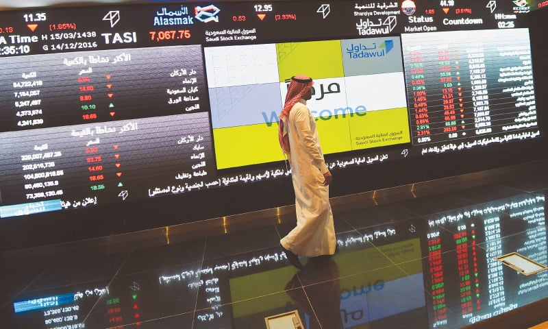THE Saudi Tadawul All-Shares Index (TASI) has dropped 1.6 per cent only a minute after the start of trading on the Arab world's largest stock market following a sweeping crackdown on corruption that saw the arrest of leading royals and businessmen.—AFP