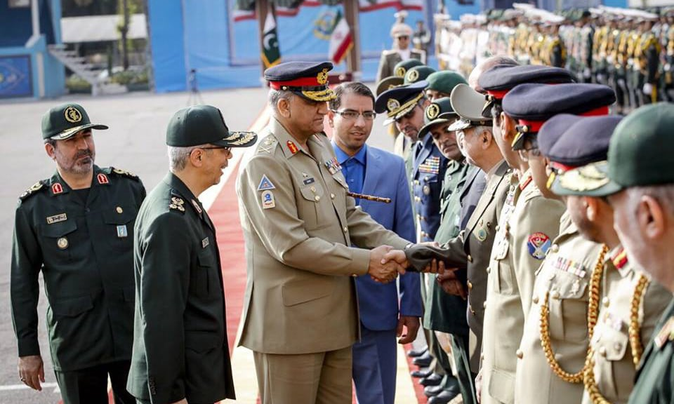 Army chief was presented guard of honour at General Staff HQ. —ISPR