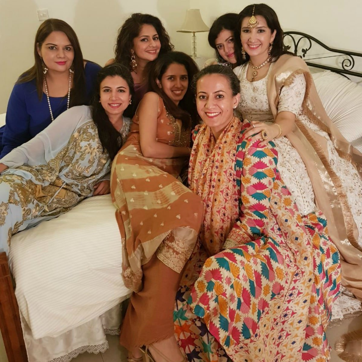 Zeb with her girl gang on her big day