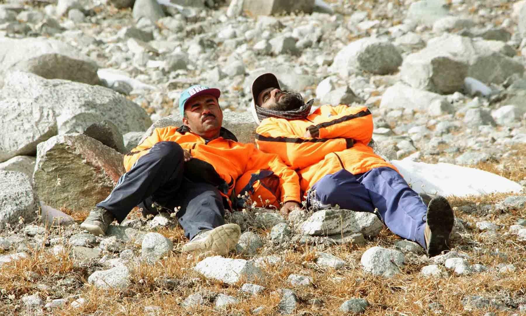 تھکنے کے بعد سستانے کا ایک منظر—تصویر امجد علی سحاب