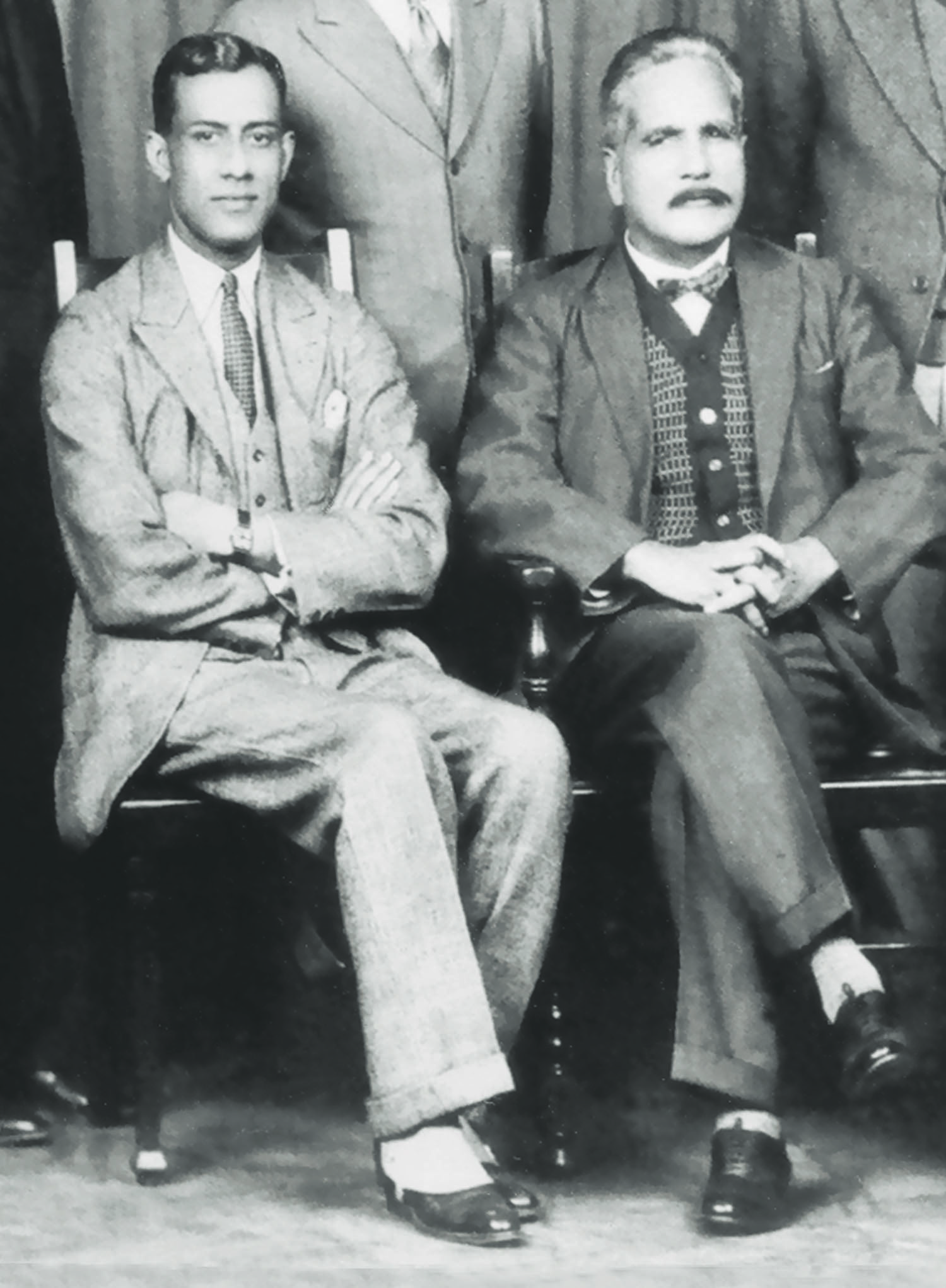 Chaudry Rehmat Ali (left) and Allama Iqbal in Cambridge in 1932 when the latter was in England to attend the Third Round Table Conference. Chaudhry Rehmat Ali coined the name Pakistan that stirred the imagination of millions of Muslims in undivided India.  Photo: The Allama Iqbal Collection.