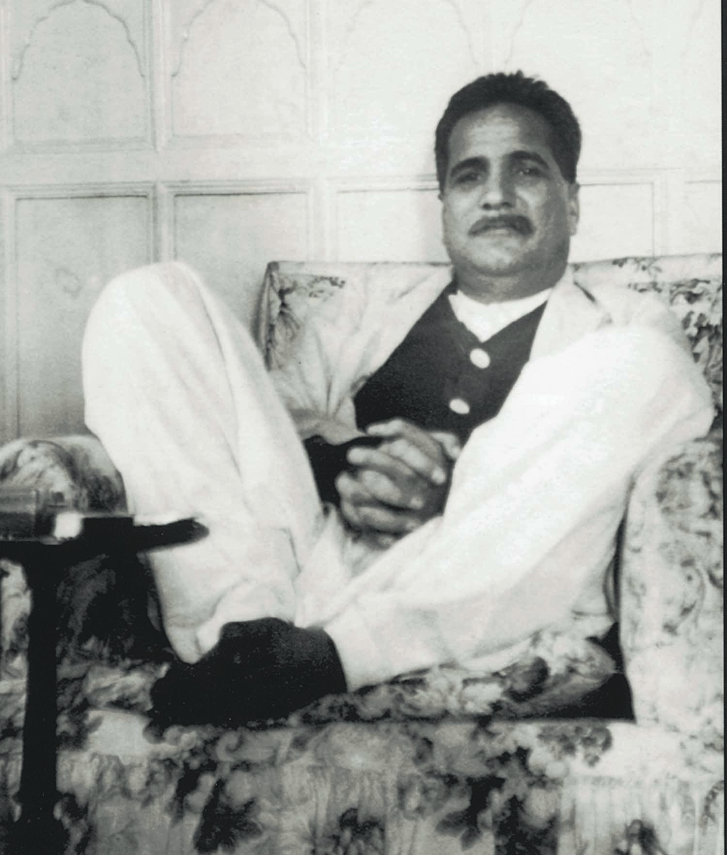 ALLAMA Iqbal relaxing at the residence of his friend Nawab Zulfiqar Ali Khan who was the chairman of the Anjuman-i-Himayat-i-Islam, an organisation that aimed at promoting Islamic values through education and intellectual activities.  | Photo: The Allama Iqbal Collection.