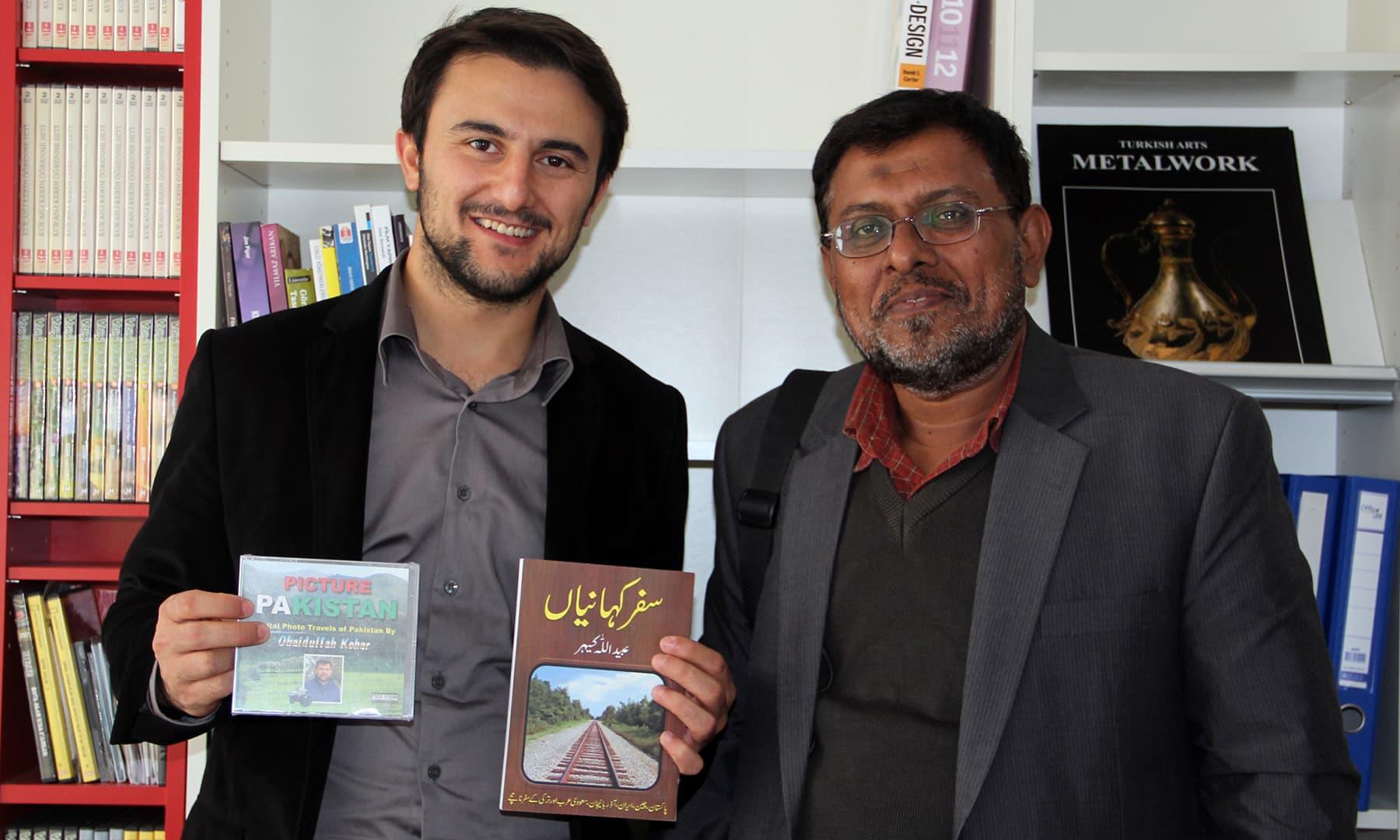 'ترکی میں اردو تدریس کے سو سال' کی تکمیل پر ایک انٹرنیشنل سمپوزیم کے موقعے پر میری کتاب کی تقریب رونمائی بھی ہوئی—تصویر عبیداللہ کیہر