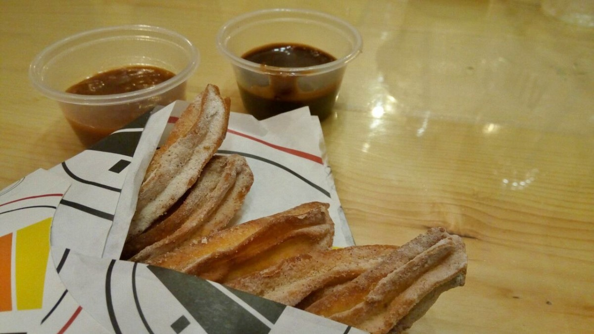 Churros at Pita come with a killer salted caramel sauce that will make you forget all about chocolate!