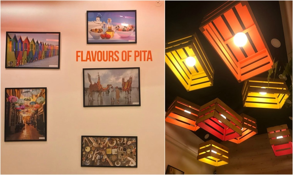 Pita's interiors were mostly designed and created by the owners Ahsan and Hassaan themselves