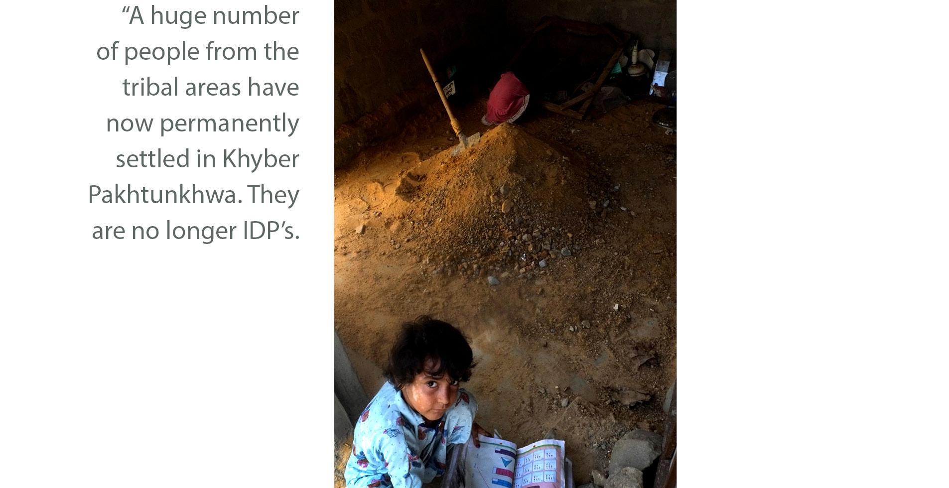 Children play inside a building under construction in Baloch Goth, Karachi   Malika Abbas, White Star
