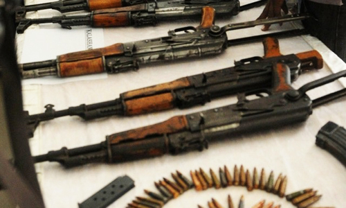 Interior ministry suspends licences for automatic weapons across country