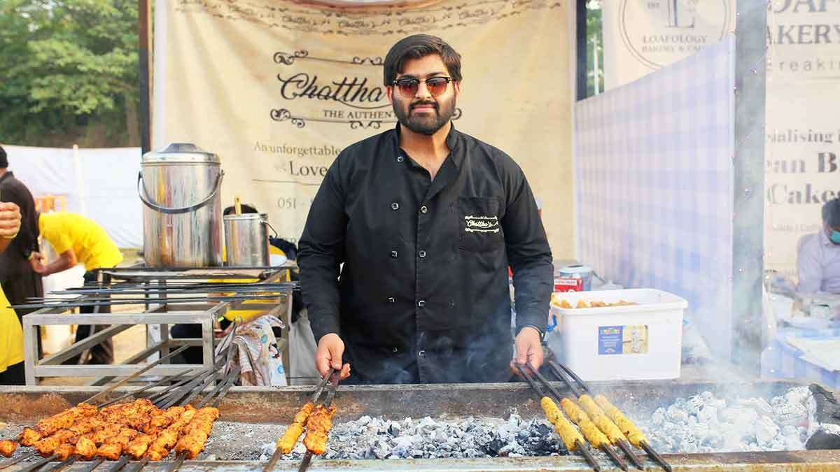 Waqar Chattha, the mastermind behind Chatthas, was also at the stall throughout