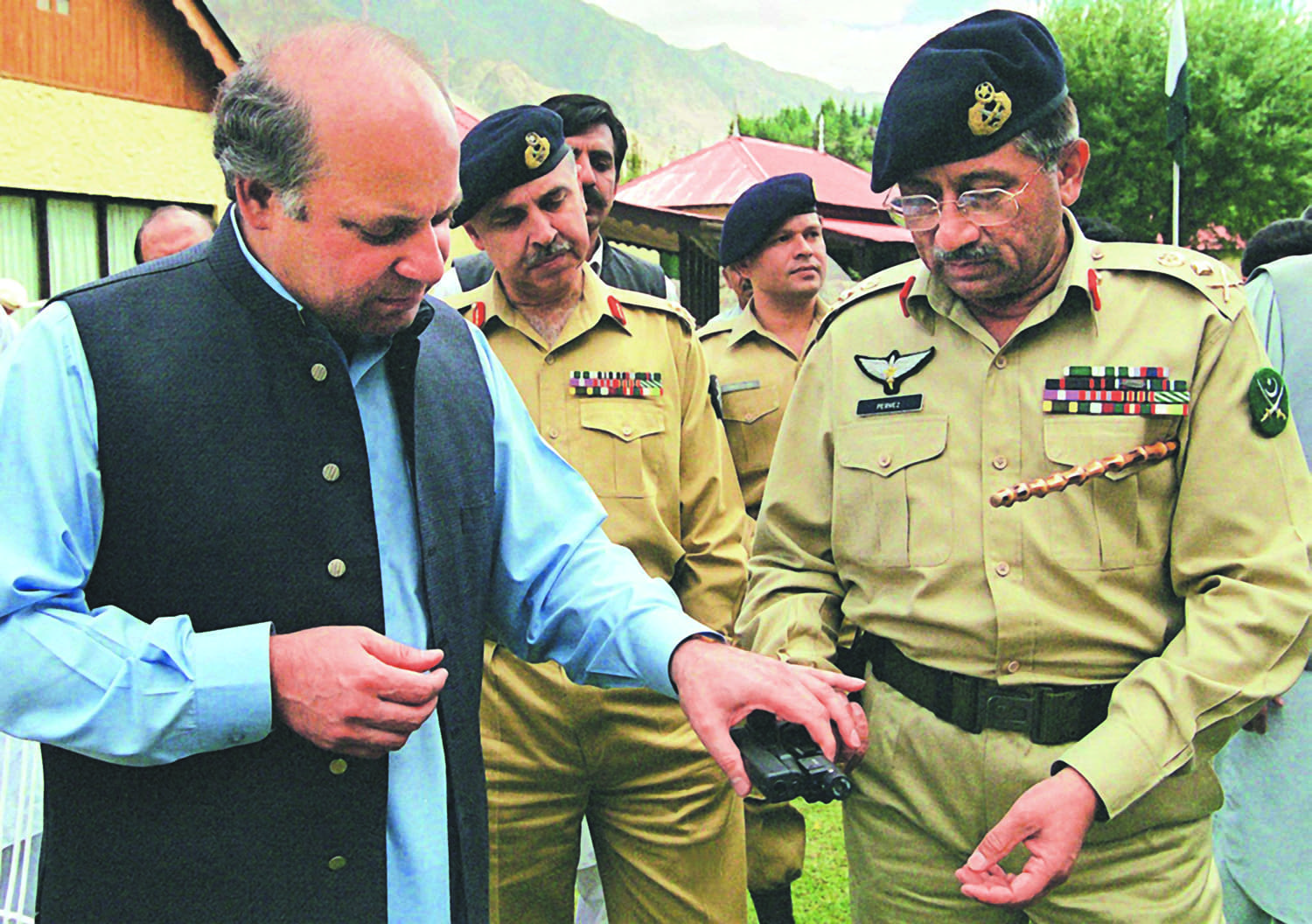 Prime minister Nawaz Sharif in September 1999 with chief of army staff General Pervez Musharraf was in Skardu visiting the families of the soldiers who had lost their lives during the Kargil conflict. Barely a month later, the government was sent packing, bringing the curtain down on the second Sharif term.