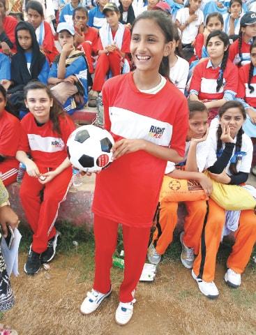 Goalie Warda Irshad