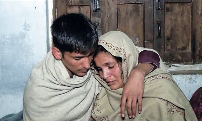 HAIDER Ali reunited with his mother at their family home.—Dawn