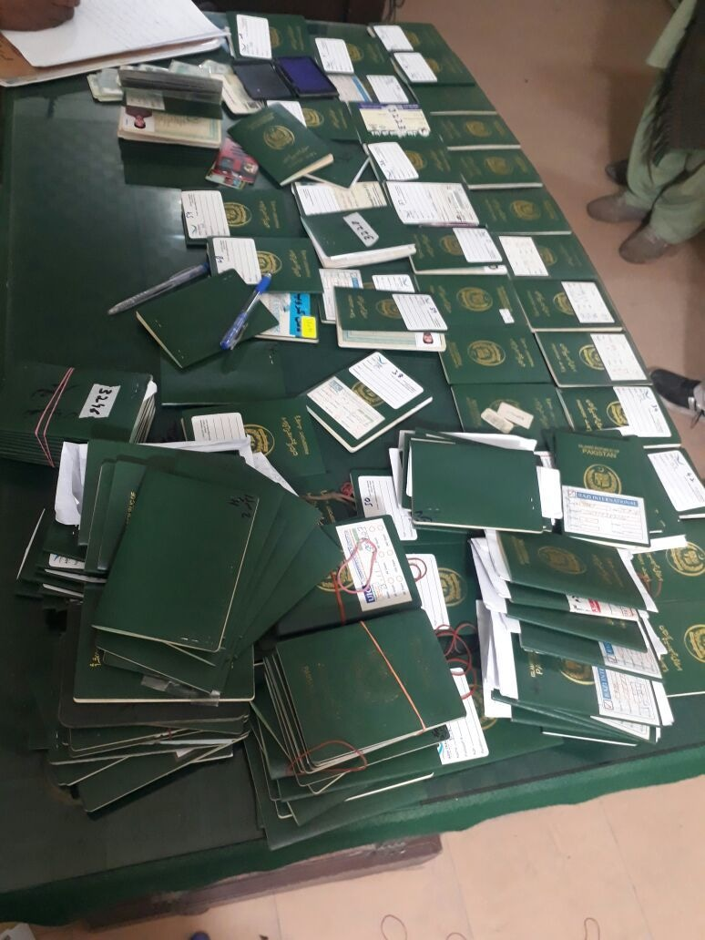 142 original passports were recovered. ─ Photo by author
