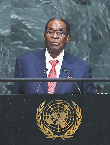 Robert Mugabe was the only leader Zimbabwe had known since independence in 1980.—AFP