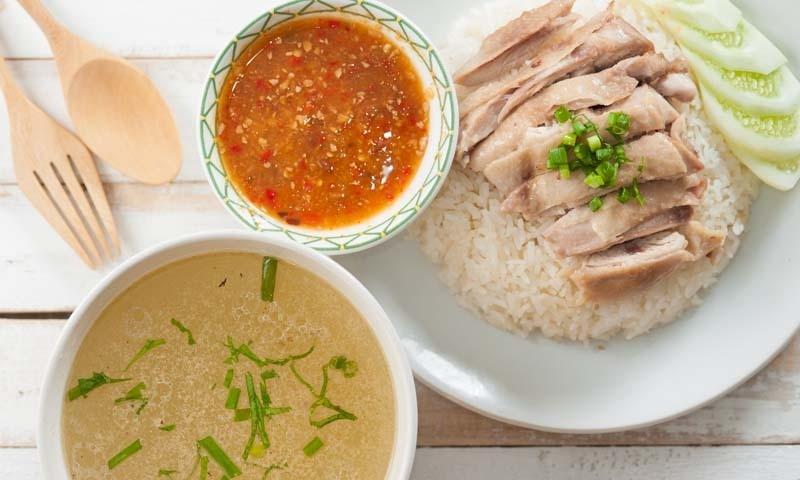 Hainanese Chicken Rice — فوٹو شٹر اسٹاک