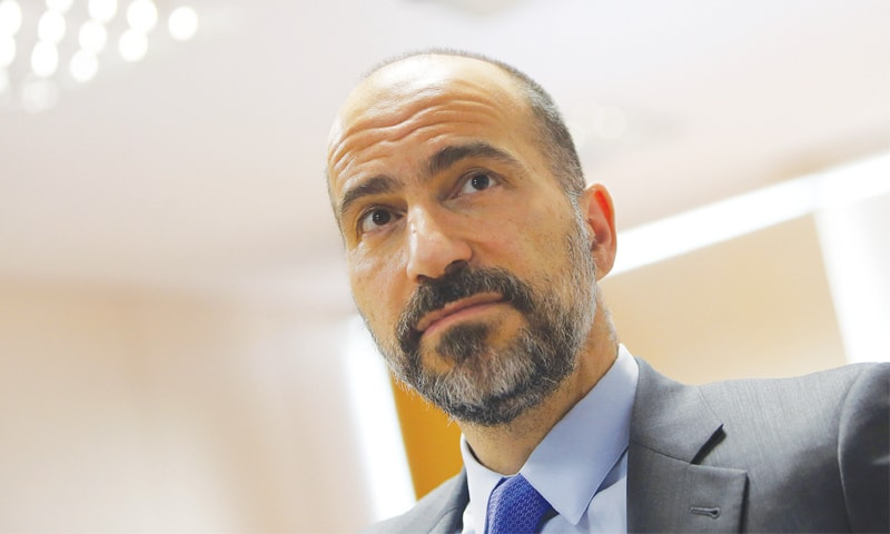 DARA Khosrowshahi says he learnt about the breach recently.—Reuters