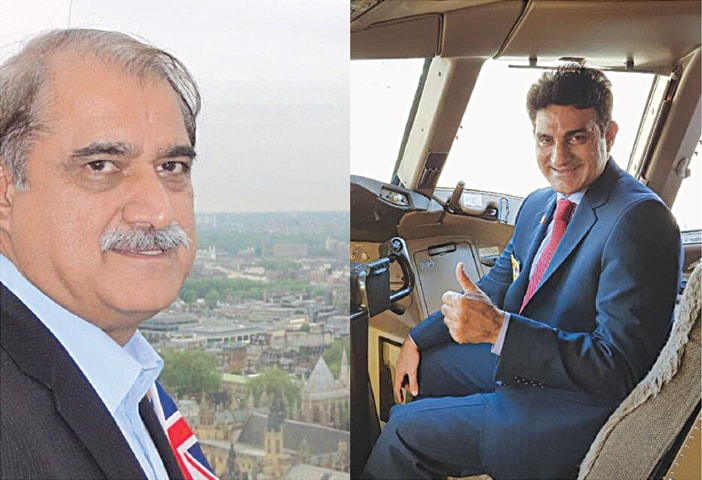 The men in the cockpit: Chairman Irfan Elahi (left) and CEO Musharraf Rasool Cyan (right)