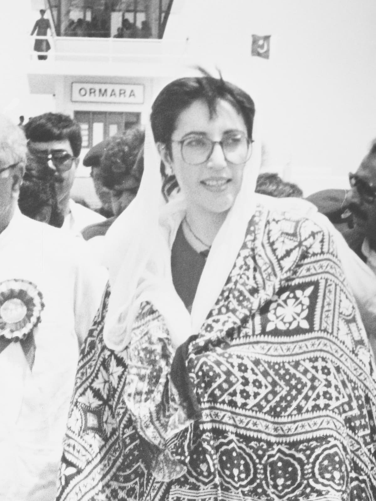 Benazir Bhutto at Ormara airport in Balochistan | Hasan Bozai, White Star