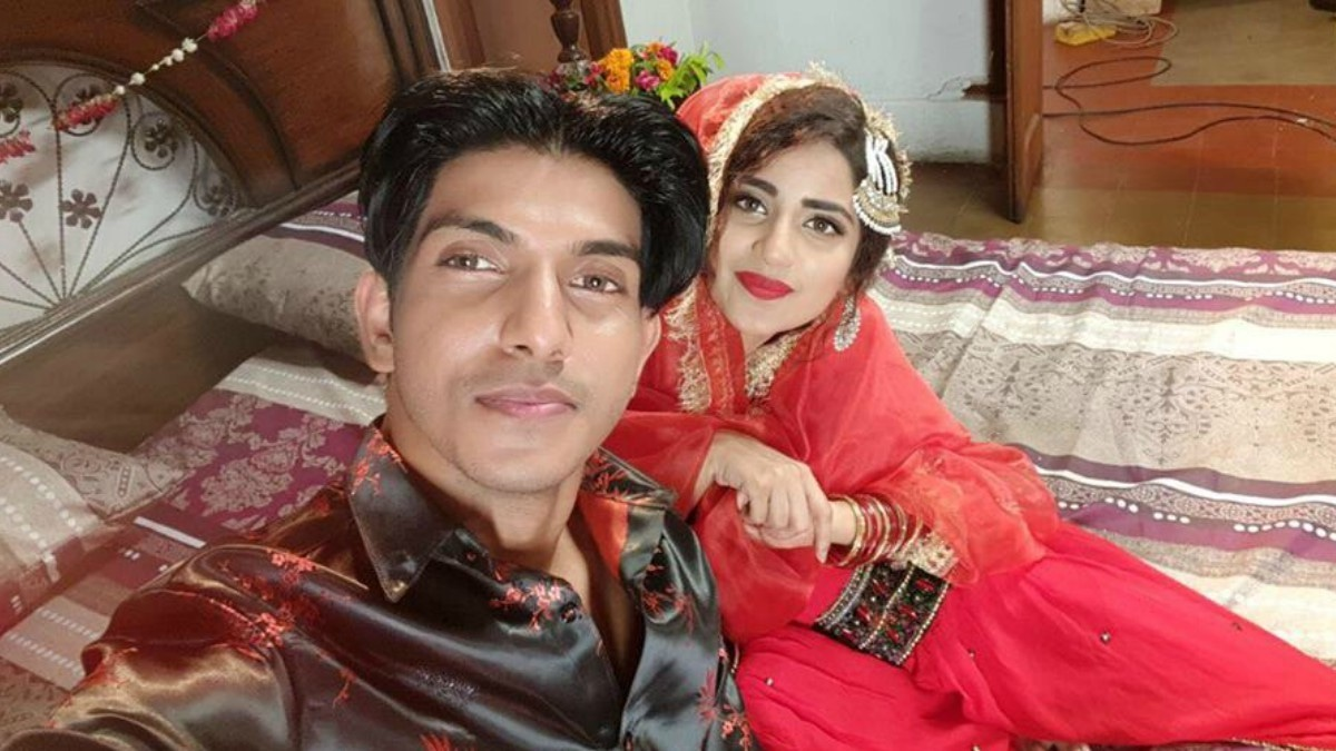 Mohsin Abbas pictured with Saboor Aly
