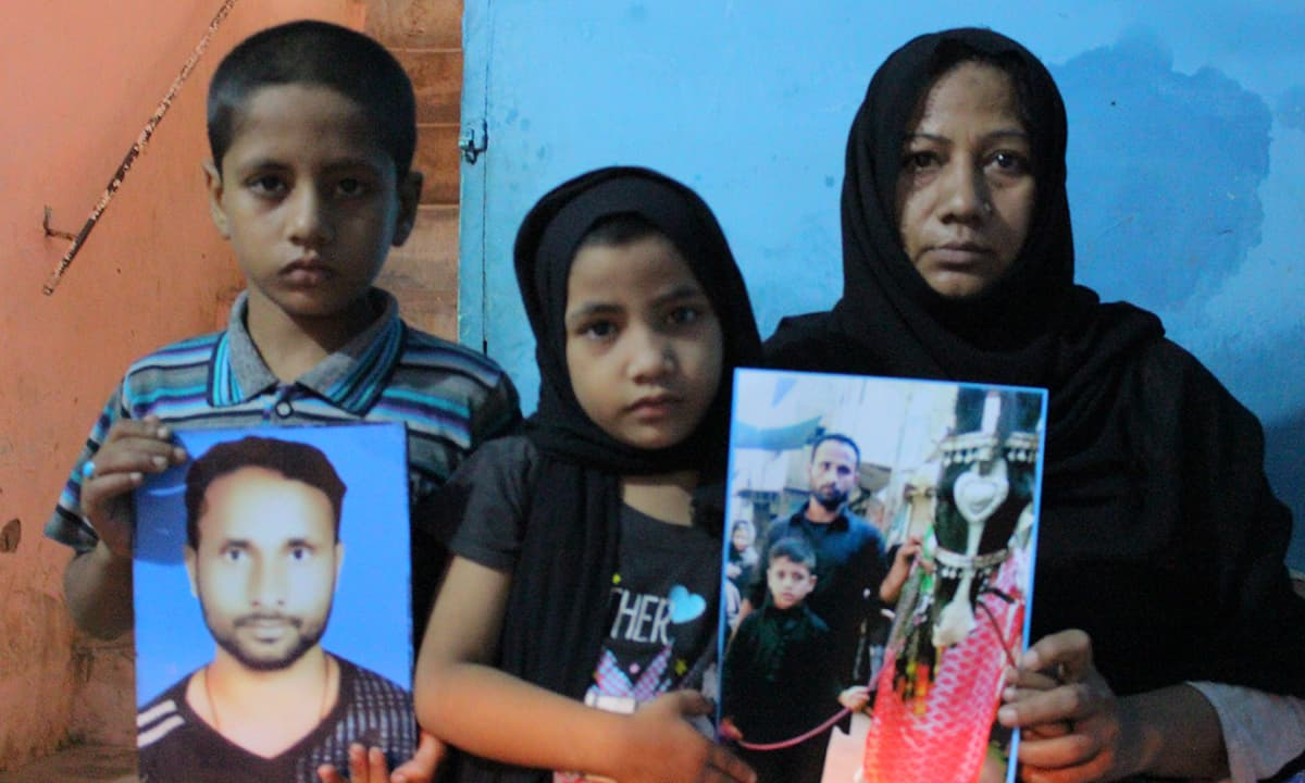 Missing person Zahid Haider Kashmiri's family holds up pictures from happier times | Fawad Hasan