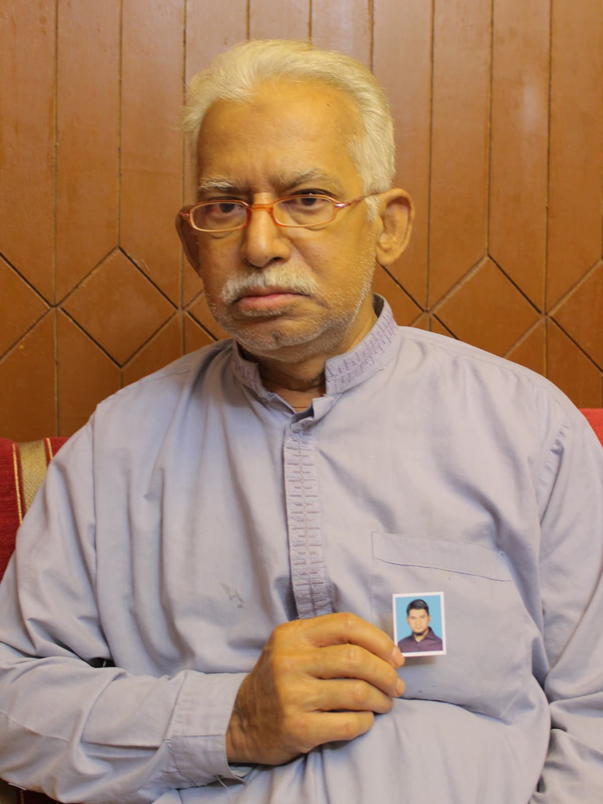 Mohammad Jamil Akhter, father of missing Nabeel Akhter | Fawad Hasan
