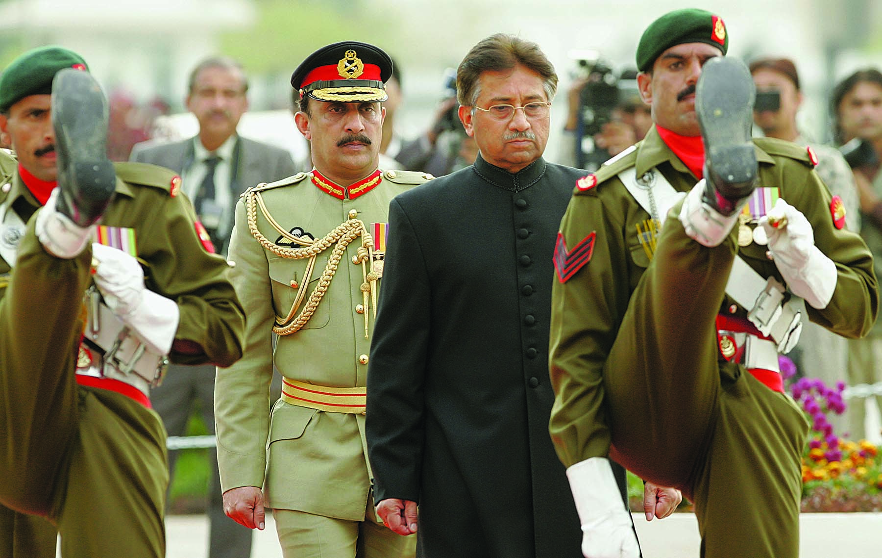 WITH army behind him, Pervez Musharraf – not always as solemn and sombre as he appears here – ruled as he wished for about a decade which appears to be the cut-off span for military dictators in Pakistan.