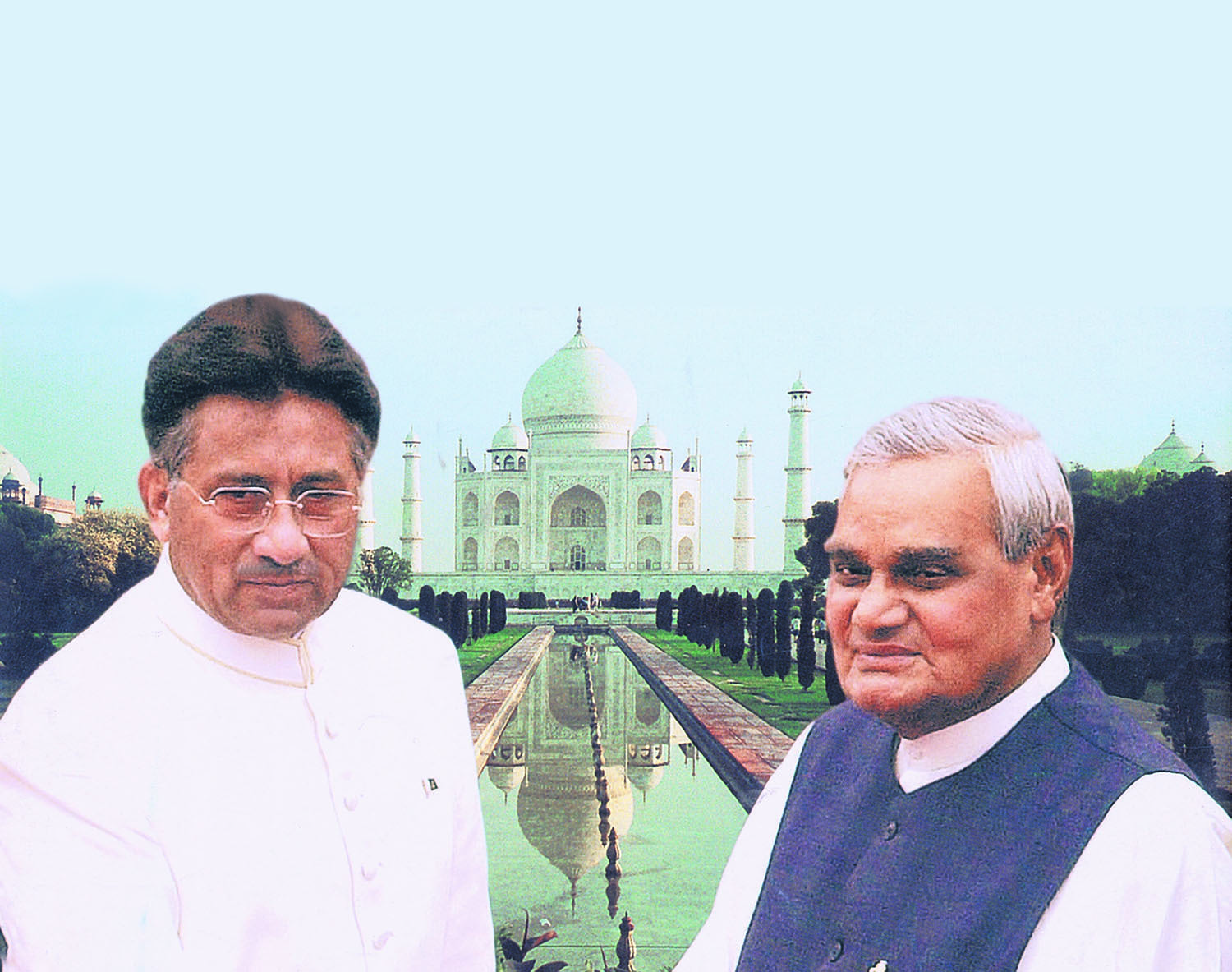 Pervez Musharraf was able to steal the show interacting with the Indian media during the Agra Summit in July 2001, but that was also one of the reasons behind the deadlock he ran into with Indian prime minister Atal Behari Vajpayee (right).