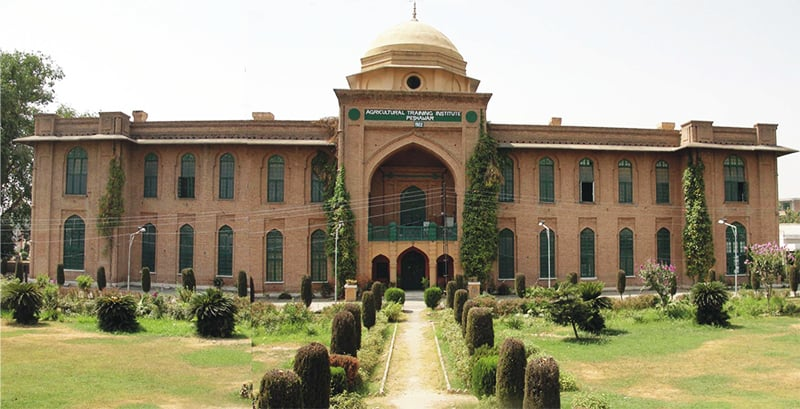 A front view of the Agricultural Training Institute in Peshawar. ─ Photo courtesy ATI website
