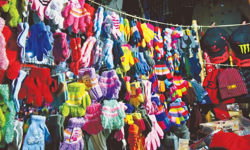 Warm mittens, socks, beanies and caps. / Photos by Fahim Siddiqi / White Star