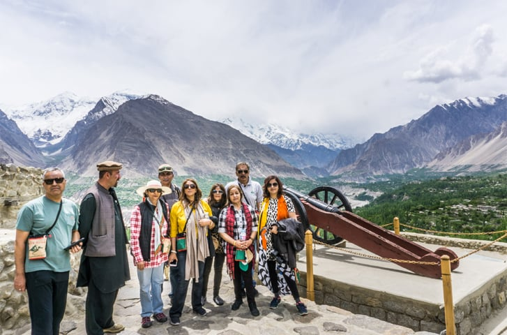 The Silk Road expedition team at Passu