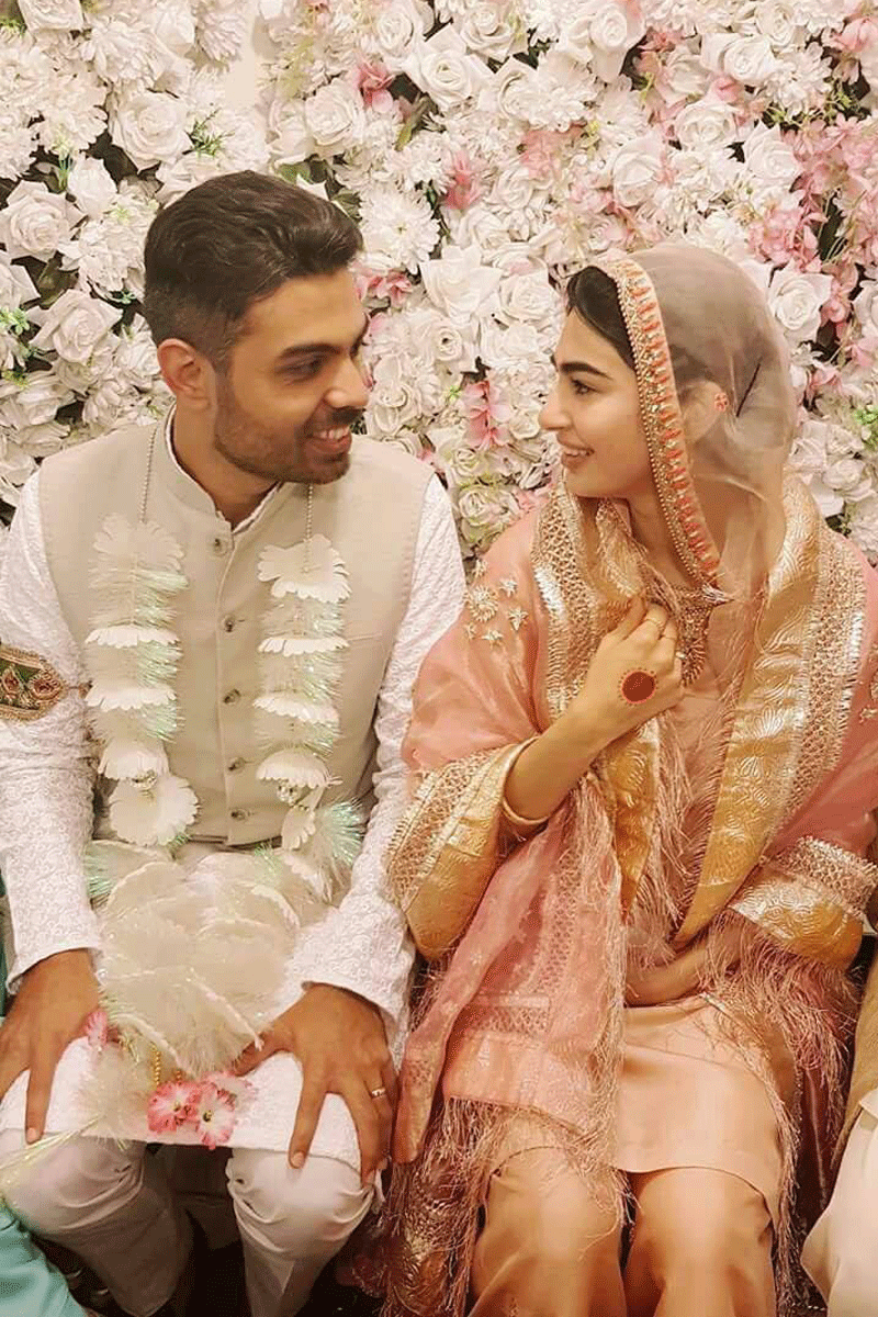 Saheefa and Khizr on their nikkah.