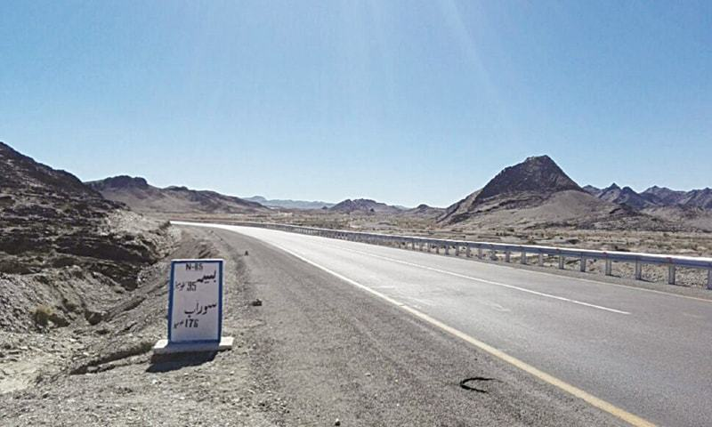 The N85 highway, just past Panjgur.—Dawn