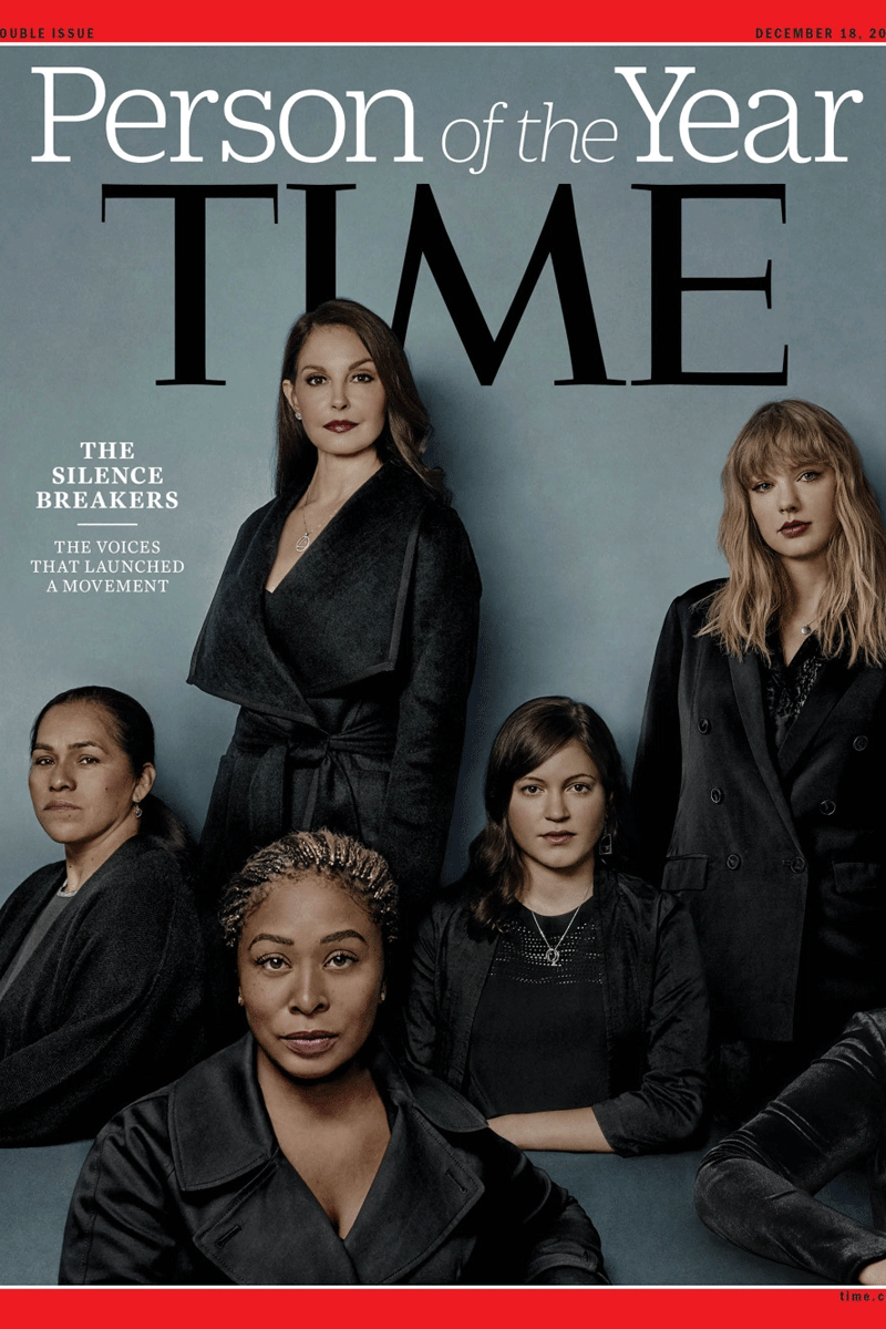 Time Magazine's Person of the Year cover featured Ashley Judd and other women who spoke up about being sexually harassed in the recent past