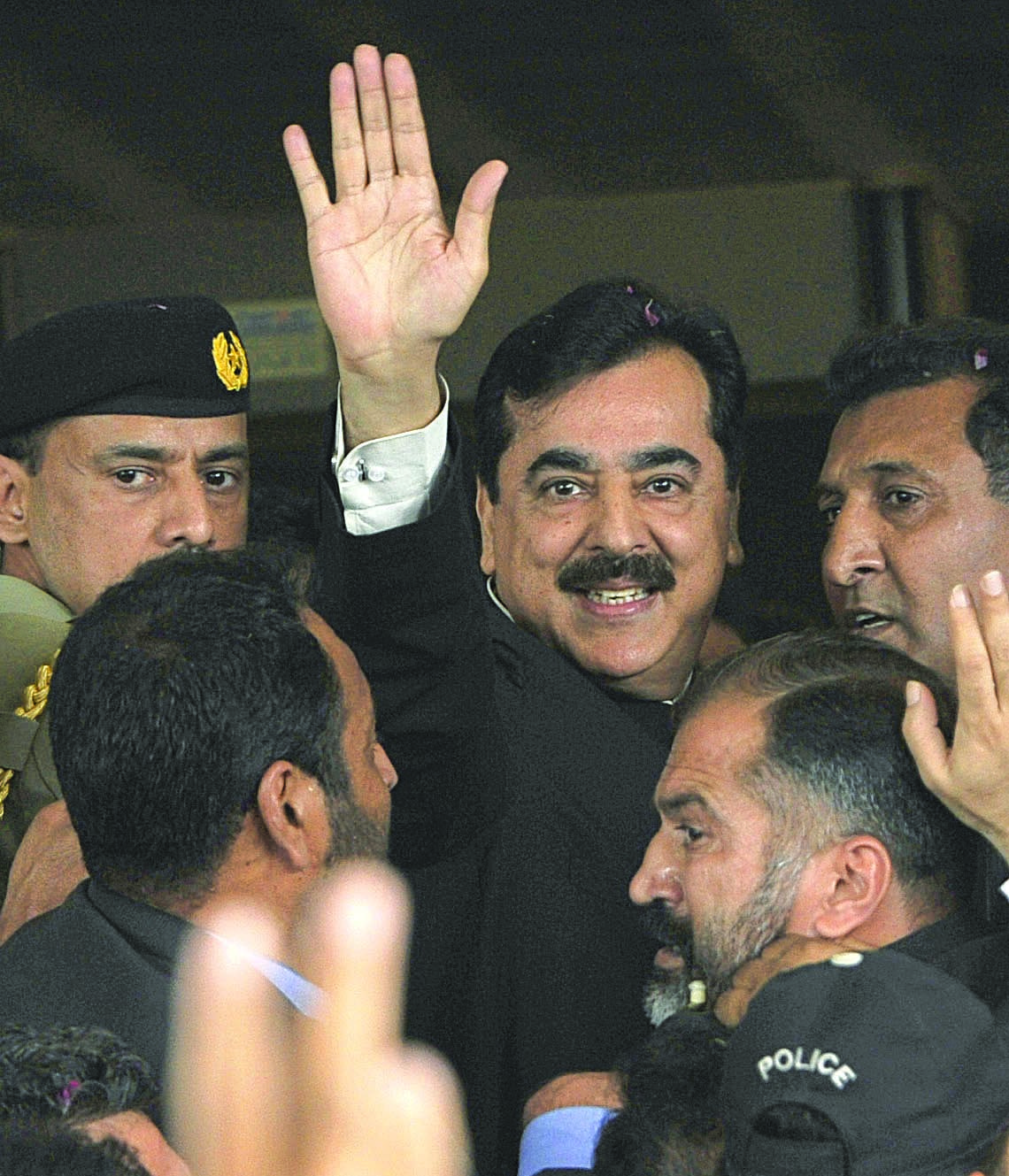 Yousuf Raza Gilani came waving into the office, but was waved away by the judiciary before he could complete his prime ministerial term.