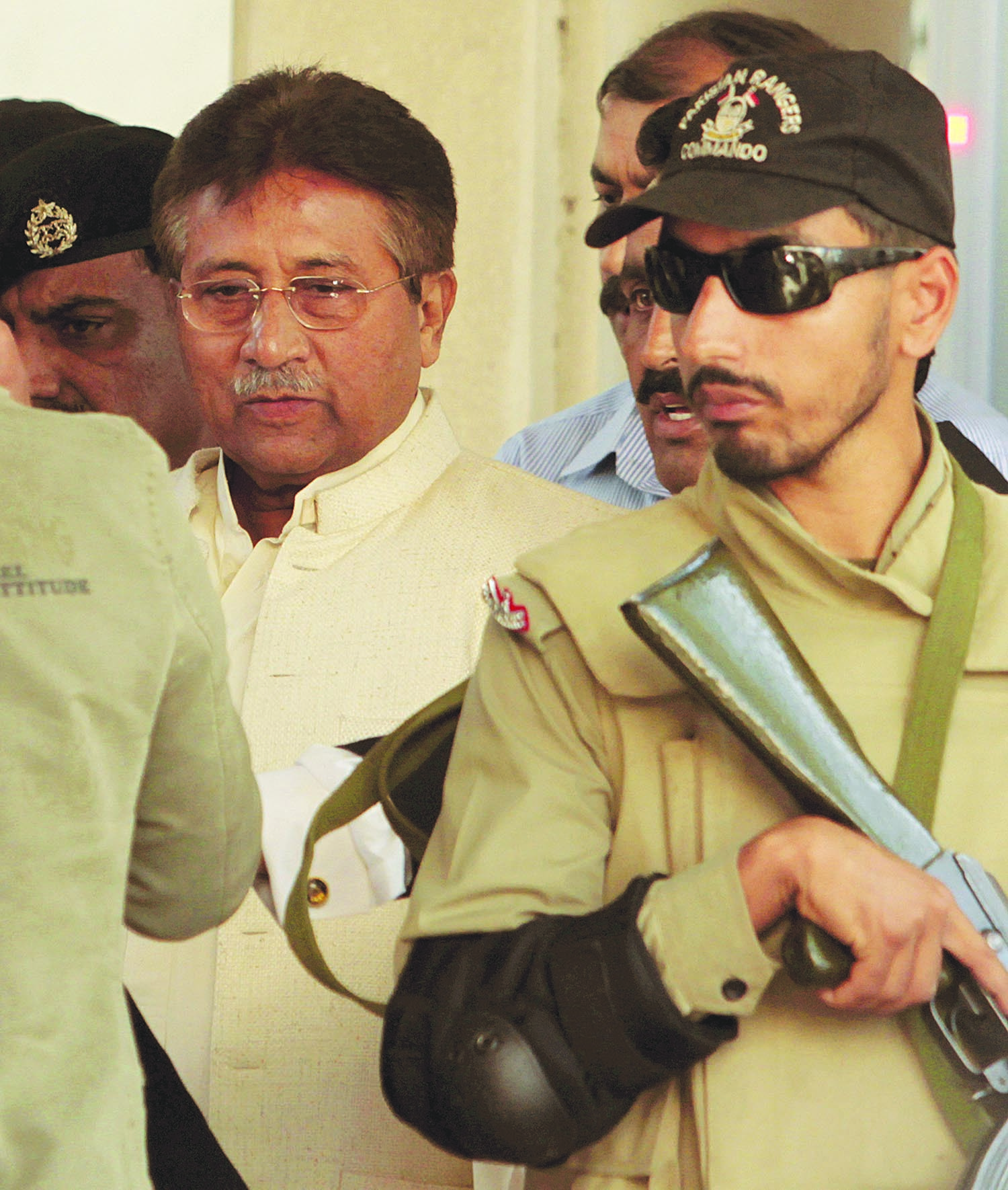 ONE of the parting acts of the PPP government was the initiation of legal proceedings against Pervez Musharraf for high treason. The former army chief subsequently had to appear in court, as seen here, for a few times before he was allowed to proceed abroad apparently for medical treatment.