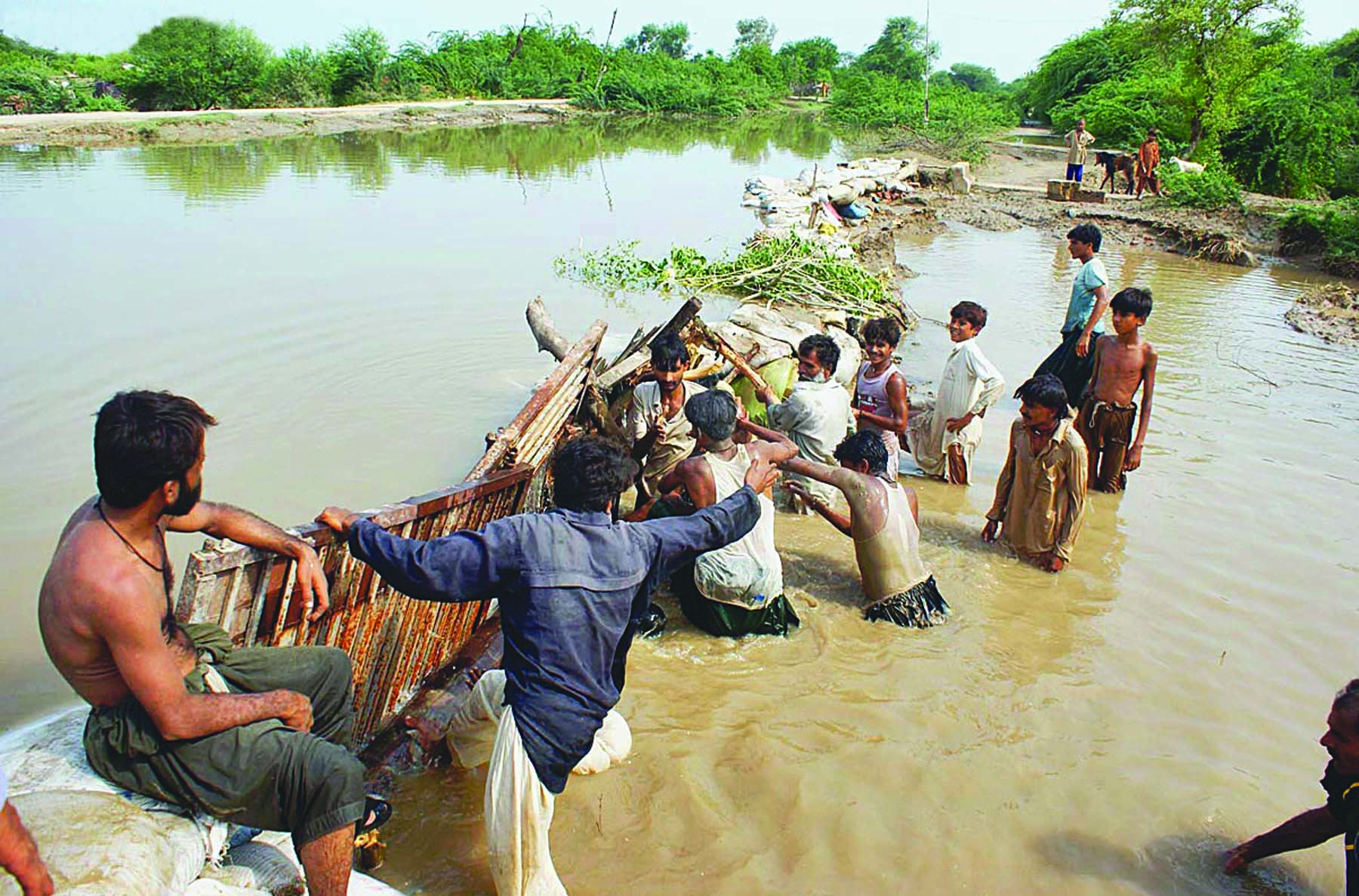 In the middle of its five-year term – 2010, 2011 – the PPP government struggled badly against floods. It was a natural calamity that was made worse by human mismanagement.